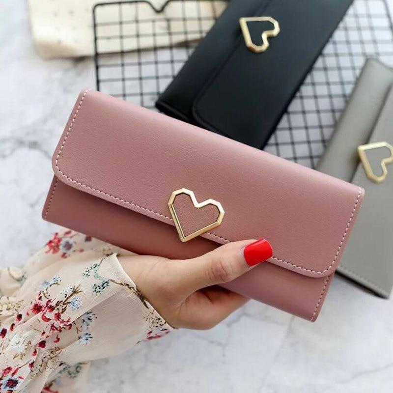 New Hot Fashion Women PU Wallet Women 39 s Handbag Hasp Wallet ZipperLong Purses Card Holder High QualitBolsa Feminina A110 in Wallets from Luggage amp Bags