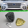 2016 New Ho Explorer 25th Anniversary 3D Metal Car Auto Logo Tailgate Grille Badge Emblem Sticker for Ford Explorer Car Styling