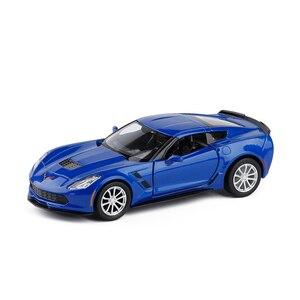 Image 3 - 1/36 C7 metalowe odlewane samochody zabawki z wycofać aluminiowy Model samochodu pojazdu miniaturowe na urodziny dla dzieci zabawki prezenty