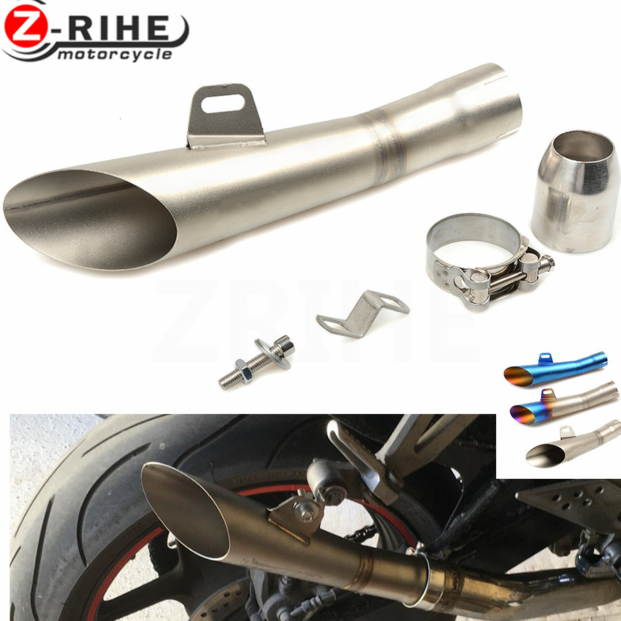 for Universal 36-51mm Motorcycle Accessories cnc Exhaust Stainless Steel Motorbike Exhaust Pipe For Honda CB 599 919 CBR 600 250 universal 36 51mm motorcycle accessories cnc exhaust stainless steel motorbike exhaust pipe for ktm 690 enduro r 690 smc 2014 20