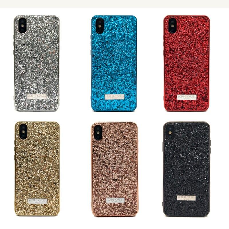 Großhandel 10 teile/los Frauen Glitter Telefon Fall Für iphone 6 6s 7 8 Plus X XS Max Zurück Abdeckung fall Volle Schützen Matte fällen