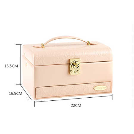 جديد الأزياء صندوق مجوهرات خشبي أنيق مربع تغليف المجوهرات عرض كبيرة رائعة زهرة حقيبة مستحضرات تجميل الفاخرة مجوهرات المنظم التخزين