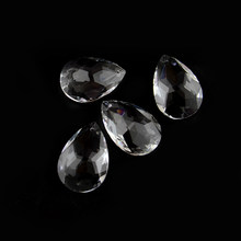 Free Shipping 5pcs 50mnBauhinia Clear Art Glass Drops Chandelier Pendant Lamp Hanging Prisms Multi Faceted Beads Home X'masDecor(China)