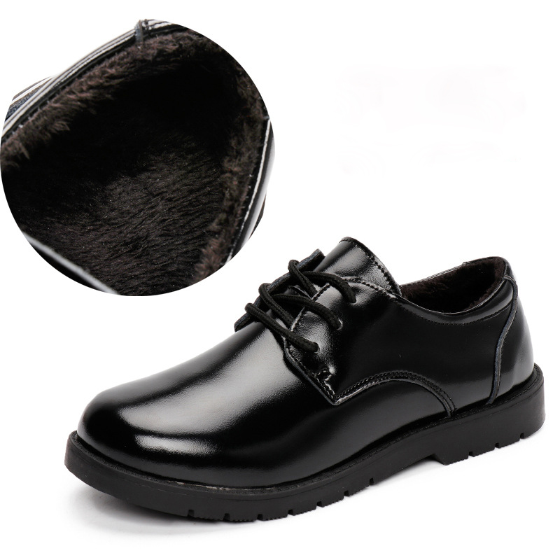 Kalupa New Kid Genuine Leather Wedding Dress Shoes For Boys Children Black  School Performance Formal Flat f8892f1bc842