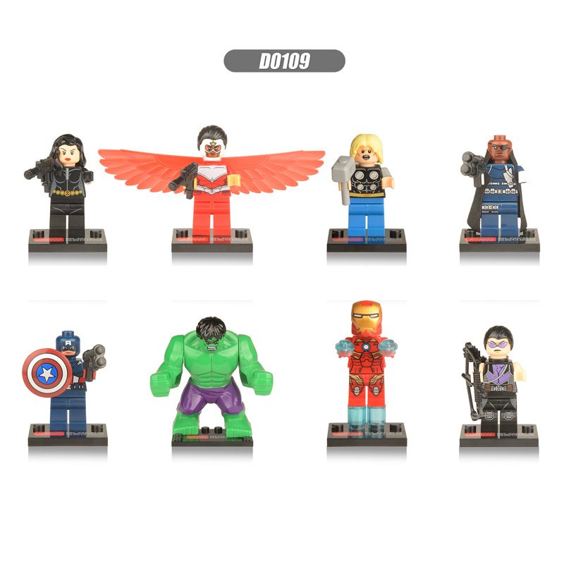 8 pcs/set avengers marvel dc super heroes series action mini figures building...