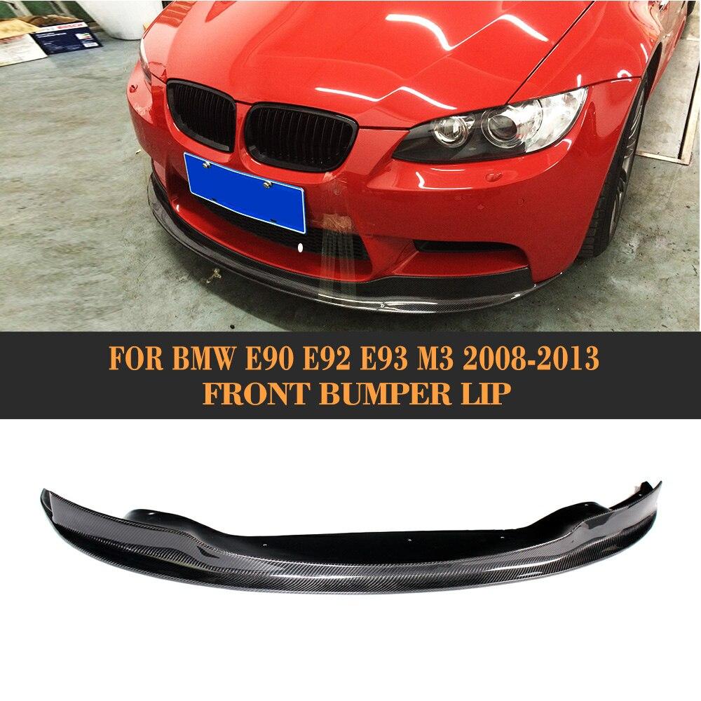 3 Series Carbon Fiber Front Bumper Diffuser Lip Spoiler for BMW E90 E92 E93 M3 2008 - 2013 Car Styling g t style carbon fiber front lip spoiler fit for bmw e90 e92 e93 m3