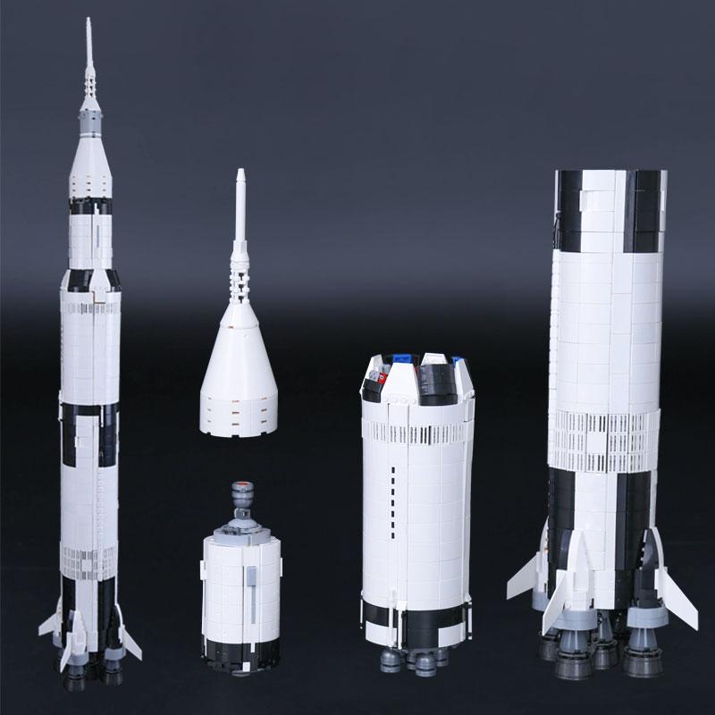 Lepin 37003 Creative Series The Apollo Saturn V Launch Vehicle Set Children Building Blocks Bricks Educational Toy 21309 Gifts apollo ru bun lock children puzzle toy building blocks