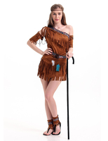5 Pcs Halloween Carnival Indian Costume Party Dress Cosplay Indian Costume Womens Adult Fancy Dress