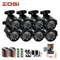 ZOSI 8 unids 800TVL CCTV de Alta resolución de Cámara de Corte IR 24Led Hora Día/Visión Nocturna IP66 Bala Al Aire Libre cámara de vídeo Cámara de vigilancia