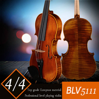 Top European material handmade solo violin 4/4 Larkviolin violino Professional playing violin, violin bow, case, rosin, Tuner
