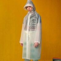 여성 비옷 EVA 여행 판초 패션 유럽 레인 코트 투어 하이킹 비옷 인쇄 비옷