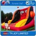 3*3 metro gigante cesta de basquete inflável, jogo de basquetebol inflável