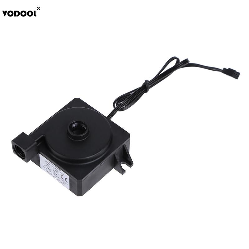 VODOOL Mini 12V Computer CPU Horizontal Water Cooling Mute Circulated 6L/Min 3Pin Water Pump PC Water Cooling System Accessories цена