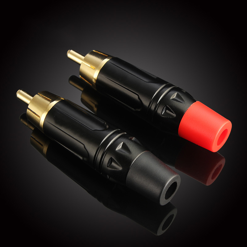 2PCS/lot Gold Plated RCA Plug Male Female Connector Audio Video Connectors