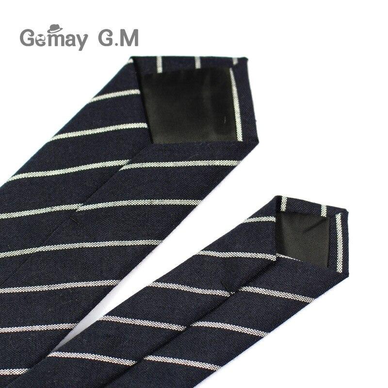 Divat alkalmi pamut kockás csíkos férfi nyakkendők 6cm keskeny - Ruházati kiegészítők - Fénykép 5
