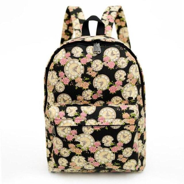 Новая Мода Стиль Холст Женщины Рюкзак Для Школы Мешок Печати Школьные Рюкзаки женские Сумки На Ремне Путешествия Softback Женщины