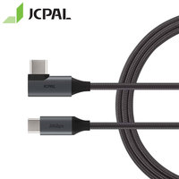 JCPAL FlexLink USB C 3.1 Gen2 Cable 90 degree Connector At One End 1.5 meter Length Type C 10Gbps 87W 4K 60Hz 53298