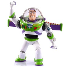 цена на Toy Story 4 Buzz Lightyear Sound and Light Character Decoration Doll Decoration Model PVC Action Figure Doll Toy Children's Gift