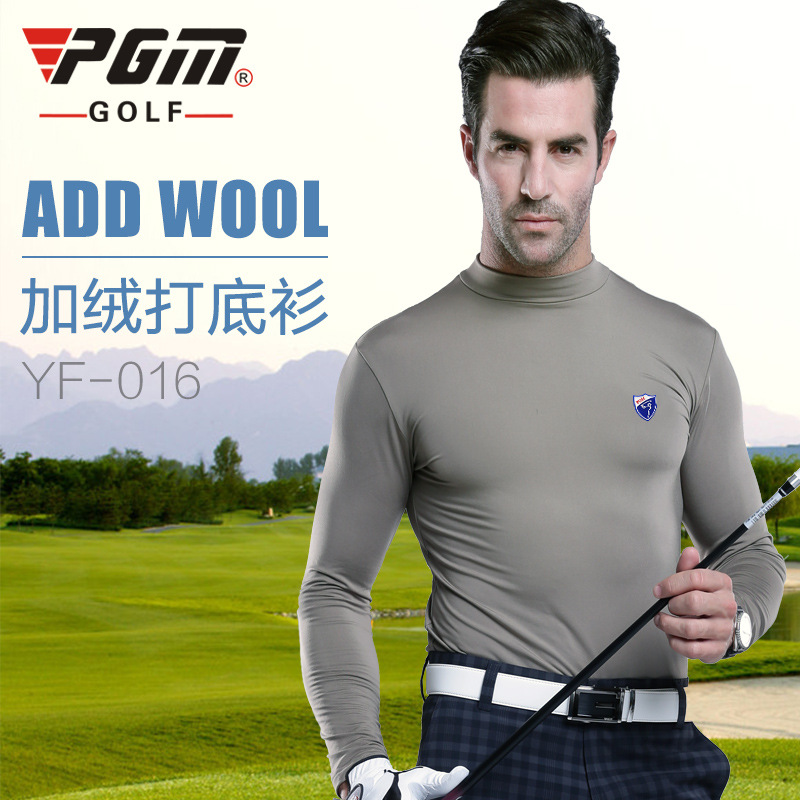 Manufacturers selling genuine PGM golf apparel GOLF SHIRT MENS LONG SLEEVE WINTER cotton T-shirt