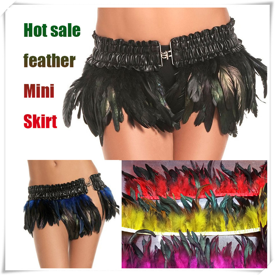 Factory Price 1meters 6 8 inch width Rooster Feather Fringe Dyed Royal Blue turquoise with Satin