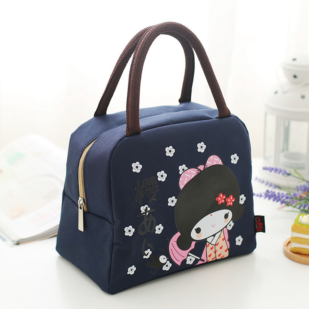 New Fashion Portable Insulated Bag Cartoon Children Lunch Bag Thermal Food Picnic Bag For Women Kids Lunch Box Tote