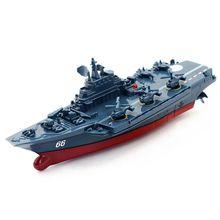 лучшая цена RC Boat 2.4GHz Remote Control Ship  Warship Battleship Cruiser High Speed Boat RC Racing Toy Dark Blue Electric
