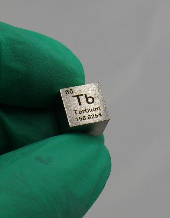 99.95% di Elevata Purezza Terbio Tb 8.3g Intagliato Elemento della Tavola periodica 10 millimetri Cubo99.95% di Elevata Purezza Terbio Tb 8.3g Intagliato Elemento della Tavola periodica 10 millimetri Cubo