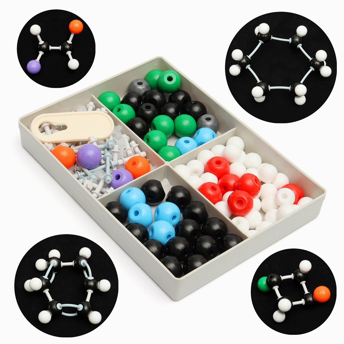 где купить 179Pcs Chemistry Molecular Molecules Model Kit Set General and Organic Chemistry Atom Bonds Student Set Chemistry Teaching Model по лучшей цене