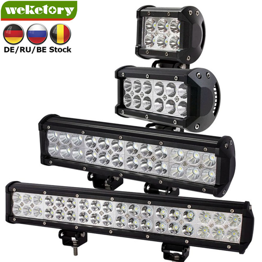 Weketory 4 7 12 17 inch 18 w 36 w 72 w 108 w LED Verlichting LED Light Bar voor Motorfiets Trekker Boot Off Road 4WD 4x4 Truck SUV ATV