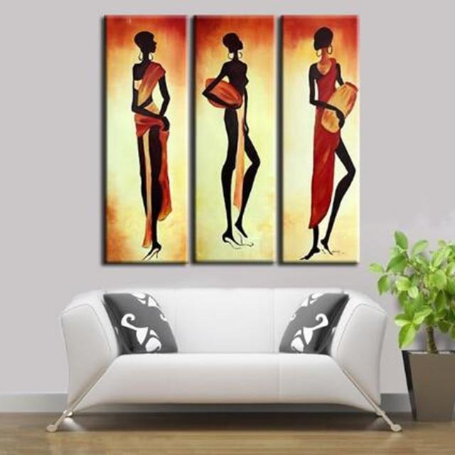 Handmade Acrylic Africa Women Paintings Modern Wall Art Decor 3 ...