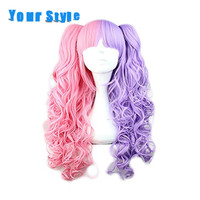Your Style Long Synthetic Fake Hair Wavy Ponytails Lolita Harajuku Cosplay Wigs Women High Temp