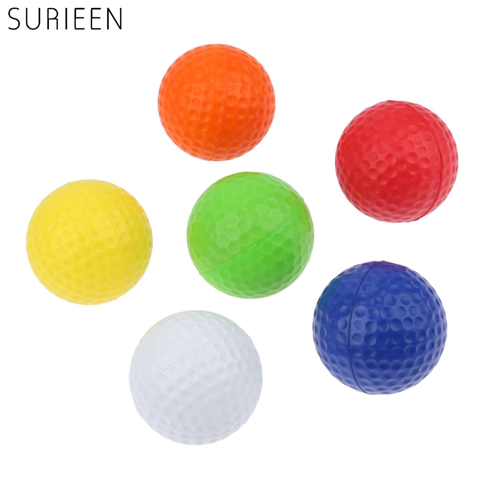 SURIEEN 20Pcs Indoor Sponge Golf Practice Balls Light Foam Golf Balls Outdoor Sport Sponge Golf Training Balls 6 Colors PU Balls