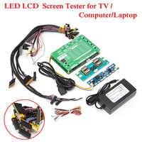 Nouvel Ordinateur Portable LCD/LED Trousse D'outils de Test Panneau Testeur D'écran + 14 pièces Câbles Lvds + Onduleur