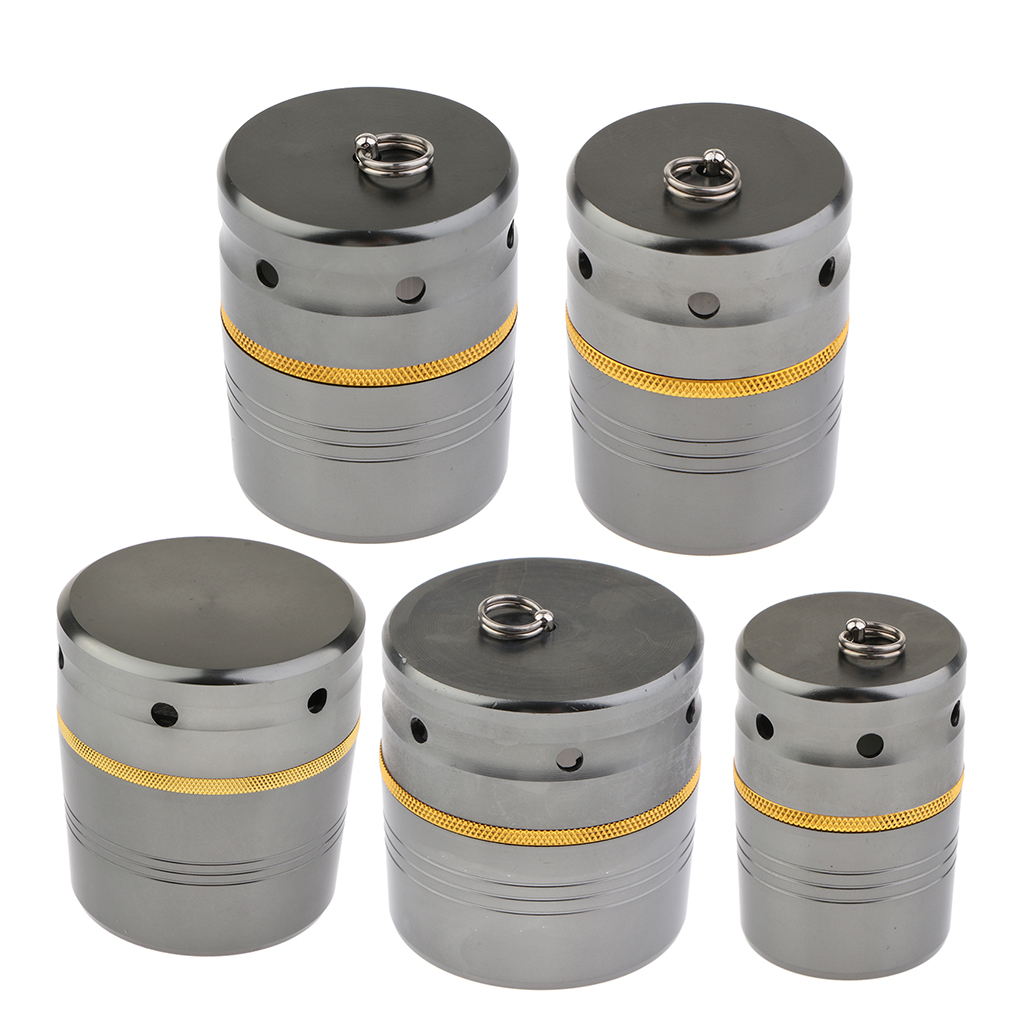 1PC 5 Sizes  Stylish Aluminum Alloy Fishing Rod End Cap Butt Reel Cases Holders for fishing Accessories