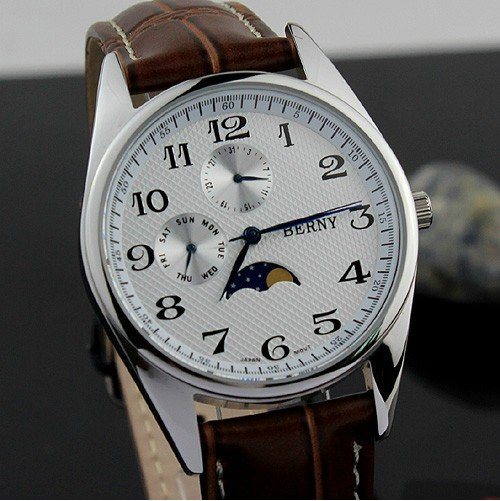 New Quartz Hours Date Leather Hand Men S Watches Top Brands Fashion