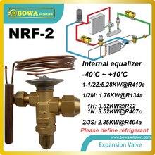 NRF-2 же расширительный клапан может быть использован для различных хладагентов. при заказе, хладагента должны быть определены