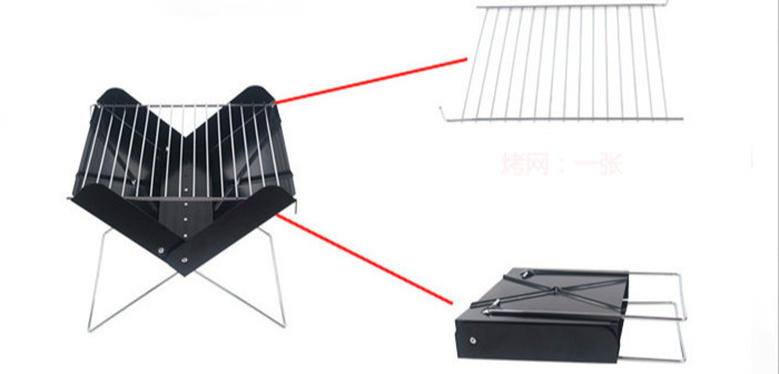 BBQ X type folding portable outdoor barbecue barbecue tools 3