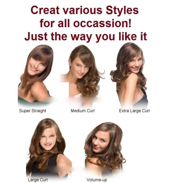 4 in 1 Ceramic Styler Hair Curler Brush Straightener  3