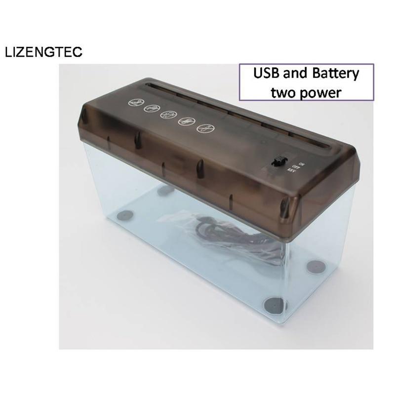 USB Electric Battery Dual-Purpose Shredder Desktop Mini Small Financial Paper A4 Paper Shredder Paper Cutter Paper Documents C