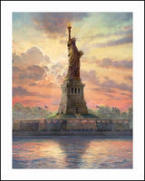 Liberty Statue Embroidery DIY Diamond Painting 5D Cross Stitch Mosaic Pattern Square Rhinestone Needlework Gift Home