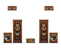 HIVI Swans F8 Home Theater Antique HiFi Home Theater System Front F8 Center F10C Rear F10R Side F10R Sub15F F10M Passive Speaker