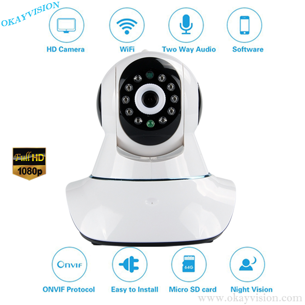 High Quality HD 1080P Wireless IP Camera Wifi Night Vision Camera IP Network Camera CCTV WIFI P2P Onvif IP Camera wistino 1080p 960p wifi bullet ip camera yoosee outdoor street waterproof cctv wireless network surverillance support onvif