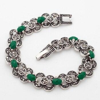 Женские браслеты с зелеными камнями
