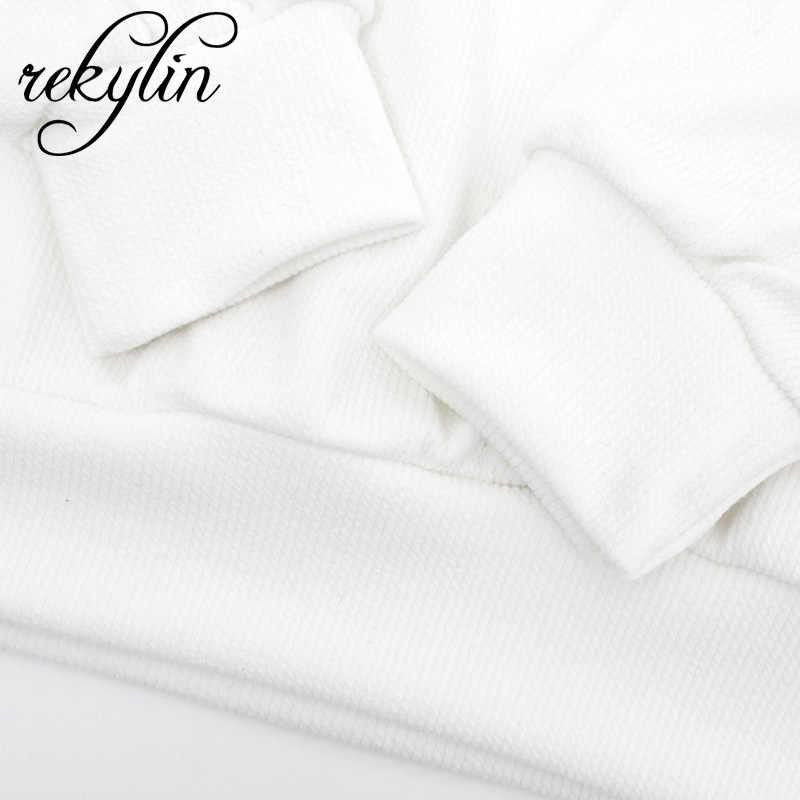 2019 Outono Carta Padrão das Mulheres Versão Coreana Da Camisola de Esportes Branco Moda Long-sleeved Camisola Das Senhoras