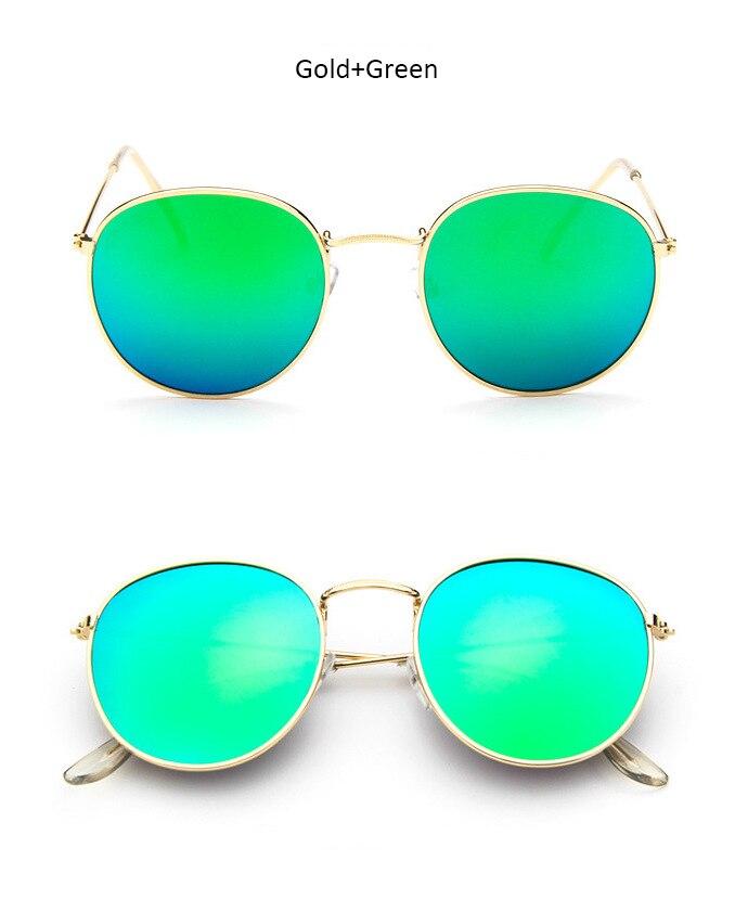 Luxury Round Sunglasses Women Brand Designer 2018 Retro Sunglass Driving Sun Glasses For Women Lady Men Female Sunglass Mirror 3