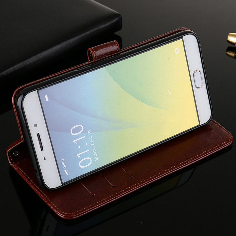 quality design e958d b8fc8 Luxury leather case for oppo f5 flip cover case wallet book style card tpu  silicone back cover for oppo f5 youth phone case 6.0