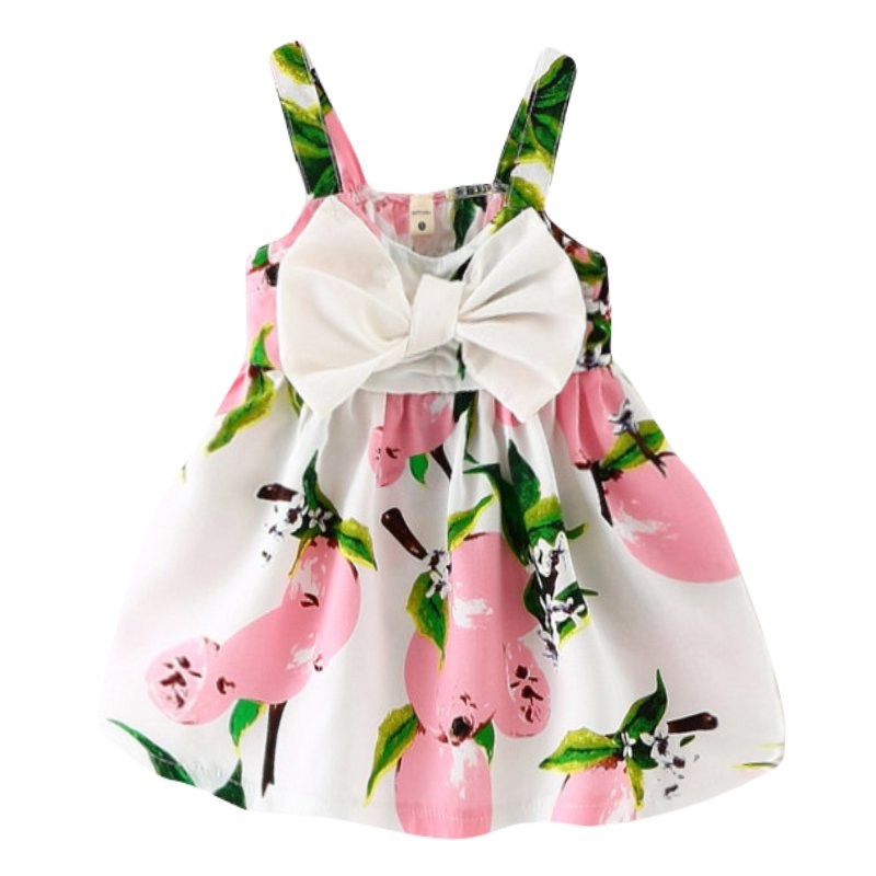 Summer Baby Kids Girls Dress Princess Bow Sleeveless Print Dresses Baby Girl Clothes SZ2