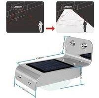 10 unids Lámpara ahorro de Energía Al Aire Libre 16 LED Solar Powered Wall Garden Yard Calle Ray y el cuerpo Humano activado lightLight
