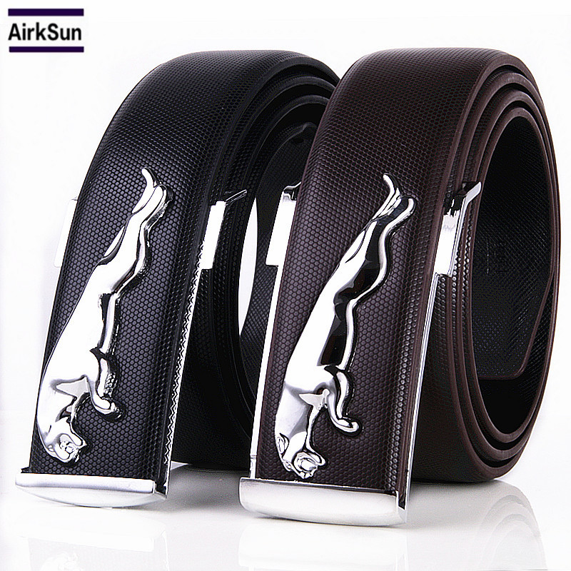 2017 Famous Brand Designer High Quality Genuine Leather Pin Buckles Jaguar Mens Belts Wide Luxury Male Cowskin Belt Unisex
