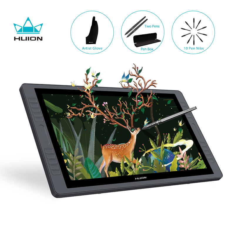 HUION KAMVAS GT-221 Pro 21.5 Inch Pen Display Monitor Graphics Drawing Tablet Monitor 8192 Levels 20 Shortcut Keys 2 Touch Bars